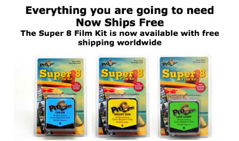 Each Super 8 Film kit is a complete workflow