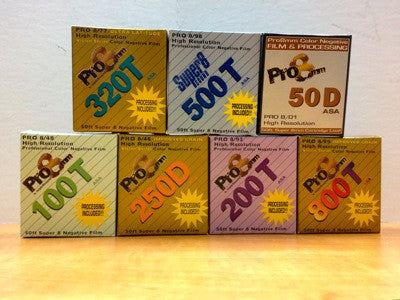 A few of the original Super 8 Color Negative film boxes