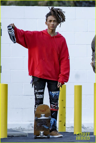 Jaden with super 8 camera