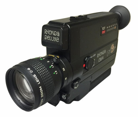 THE RHONDA CAM DELUXE IS A COMPACT SUPER 8 CAMERA PERFECT FOR CONSUMERS OR ANYONE WHO IS NEW TO SUPER 8 FILMMAKING