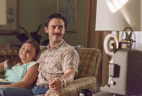 "THIS IS US — ""The Big Day"" Episode 12 — Pictured: (l-r) Mackenzie Hancsicsak as Kate, Milo Ventimiglia as Jack — (Photo by: Ron Batzdorff/NBC)"