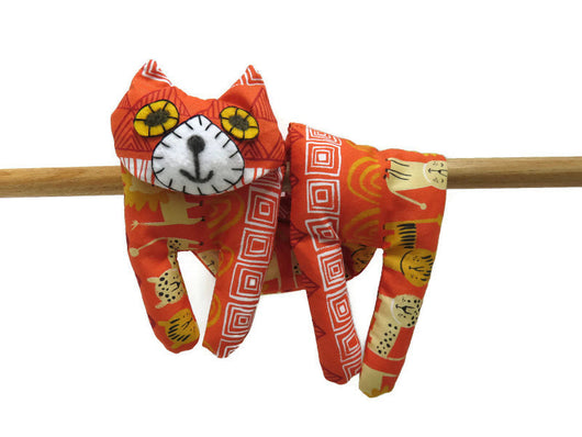 Flat Cat, Hot Cold Rice Bag, Microwave Neck Wrap, Rice Heating Pad, Hot Cold Therapy Pack, Orange White Yellow Black Lion #2, Cat Lover Gift Must Have Been The Cat