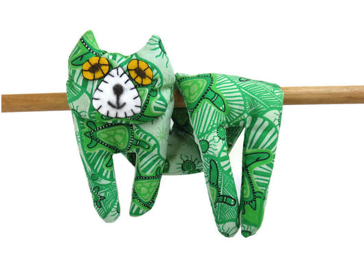 Flat Cat Rice Hot Cold Pack Microwavable Neck & Shoulders Wrap Green Turtles Indigenous Fabric, Cat Lover Gift Must Have Been The Cat