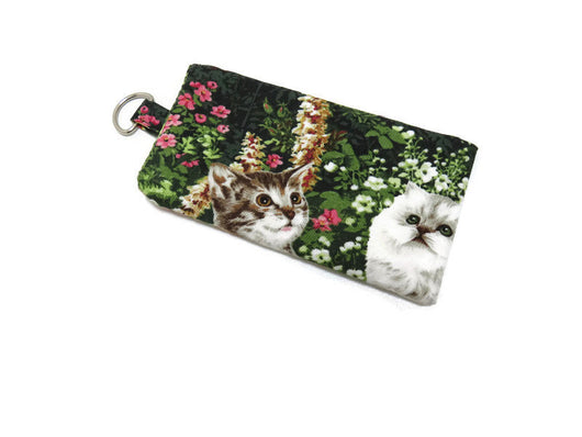 Padded Smartphone Sleeve, Cell Phone Pouch, Cat Print Cell Phone Cover, Option 5 Must Have Been The Cat