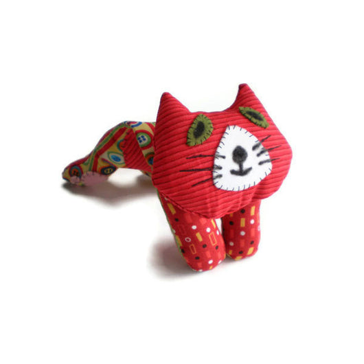 Kitten Softie Cat Doll Pin Cushion Red Yellow Black Kit Kitten Must Have Been The Cat