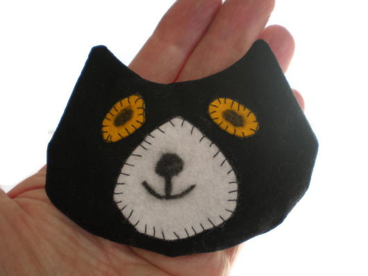 Cat Rice Heat Cold Pack Microwavable for Hand Pocket Boo Boos Ouchies Black White Cat Head Rice Pack Must Have Been The Cat