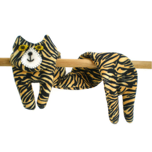 Flat Cat Rice Heat Cold Pack Microwavable for Neck Head Shoulders Tiger Pattern Black Stripes Golden Yellow Must Have Been The Cat