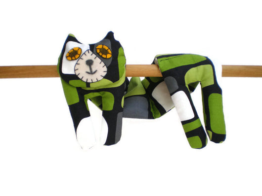 Flat Cat Rice Hot Cold Pack Microwavable for Neck Head Shoulders - Green Black Grey White #2 Must Have Been The Cat