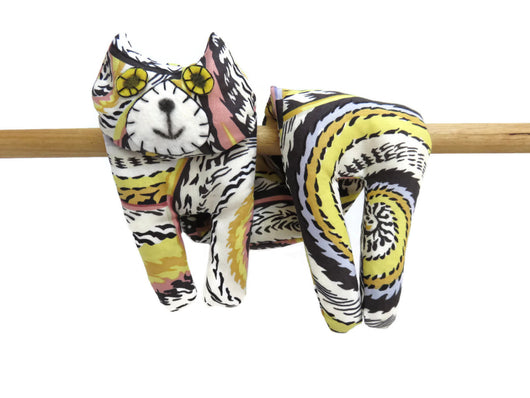 Flat Cat Rice Hot Cold Pack Microwavable Neck & Shoulders Wrap Yellow Black White Purple Coral Pink #1 Must Have Been The Cat