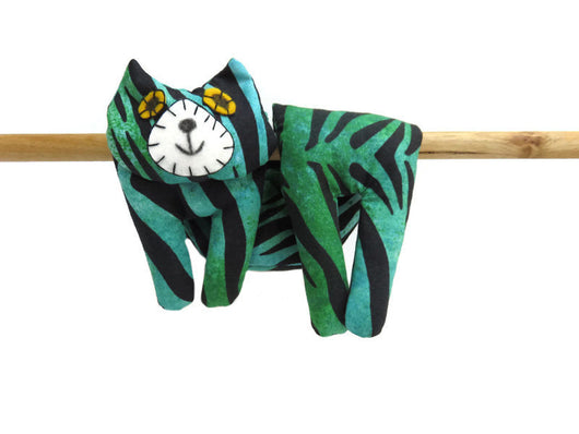 Flat Cat Rice Hot Cold Pack Neck & Shoulders Wrap Blue Green Black Tiger Pattern #2 Must Have Been The Cat