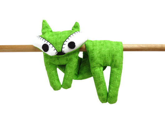 Flat Fox Neck Rice Heat Pad - Hot Cold Rice Bag - Microwave Neck Wrap - Rice Heating Pad - Hot Cold Therapy Pack - Lime Green & White Fox Must Have Been The Cat