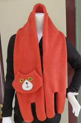 Rust Brown Flat Cat Fleece Scarf - Limited Edition Must Have Been The Cat