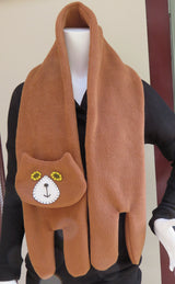 Light Brown Flat Cat Fleece Scarf - Limited Edition Must Have Been The Cat