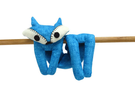 Flat Fox Neck Rice Heat Pad - Hot Cold Rice Bag - Microwave Neck Wrap - Rice Heating Pad - Hot Cold Therapy Pack - Deep Sky Blue & White Fox Must Have Been The Cat