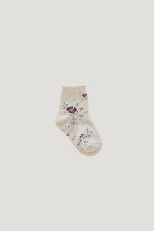Sweet William Floral Sock