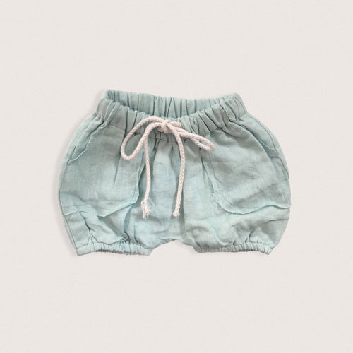 The Linen Short | Sky | By Brigitte May