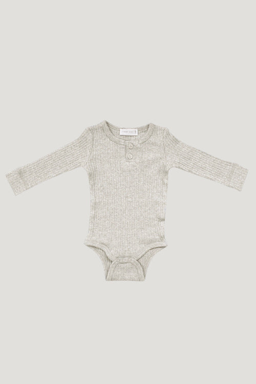 Cotton Modal Bodysuit | Oatmeal Marle
