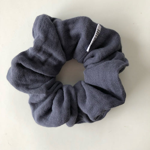 Scrunchie | Navy Triple Gauze