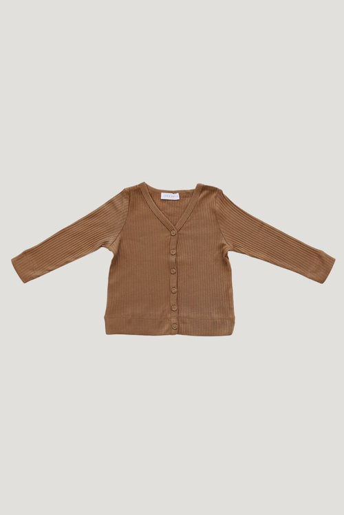 Cotton Modal Cardigan | Bronze