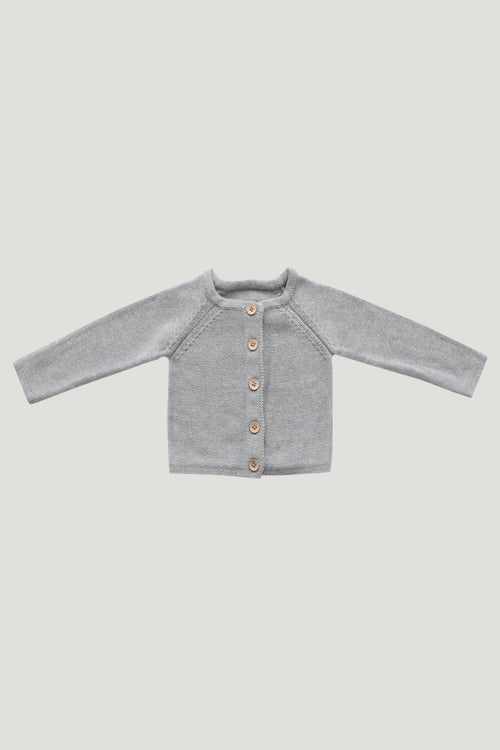 Simple Cardigan | Light Grey Marle