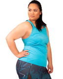 Action Back Tank | Plus Size Sports wear | Curvy Chic Sports
