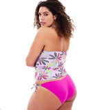 Pretty in Pink Fizz Tankini - Back | Plus Size Tankini