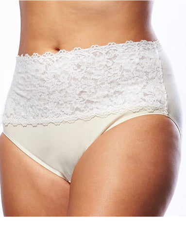 Lace Top Cotton Plus Size Underwear