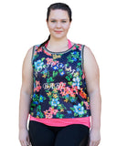 Boot Camp Babe Stretch Mesh Top with Singlet | Plus Size Fitness