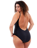 Manyana One Pice - Back | Plus Size Swimwear