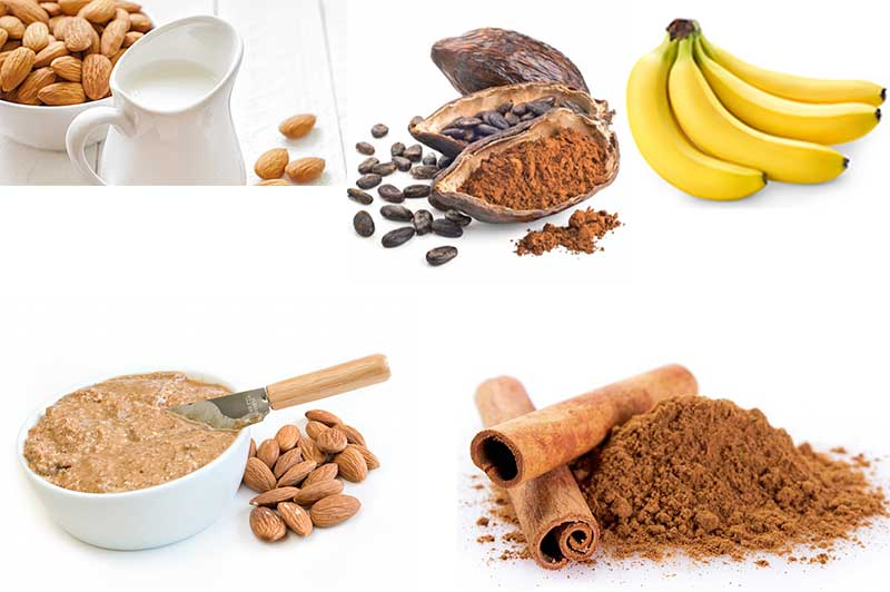 Almond Butter Smoothie ingredients