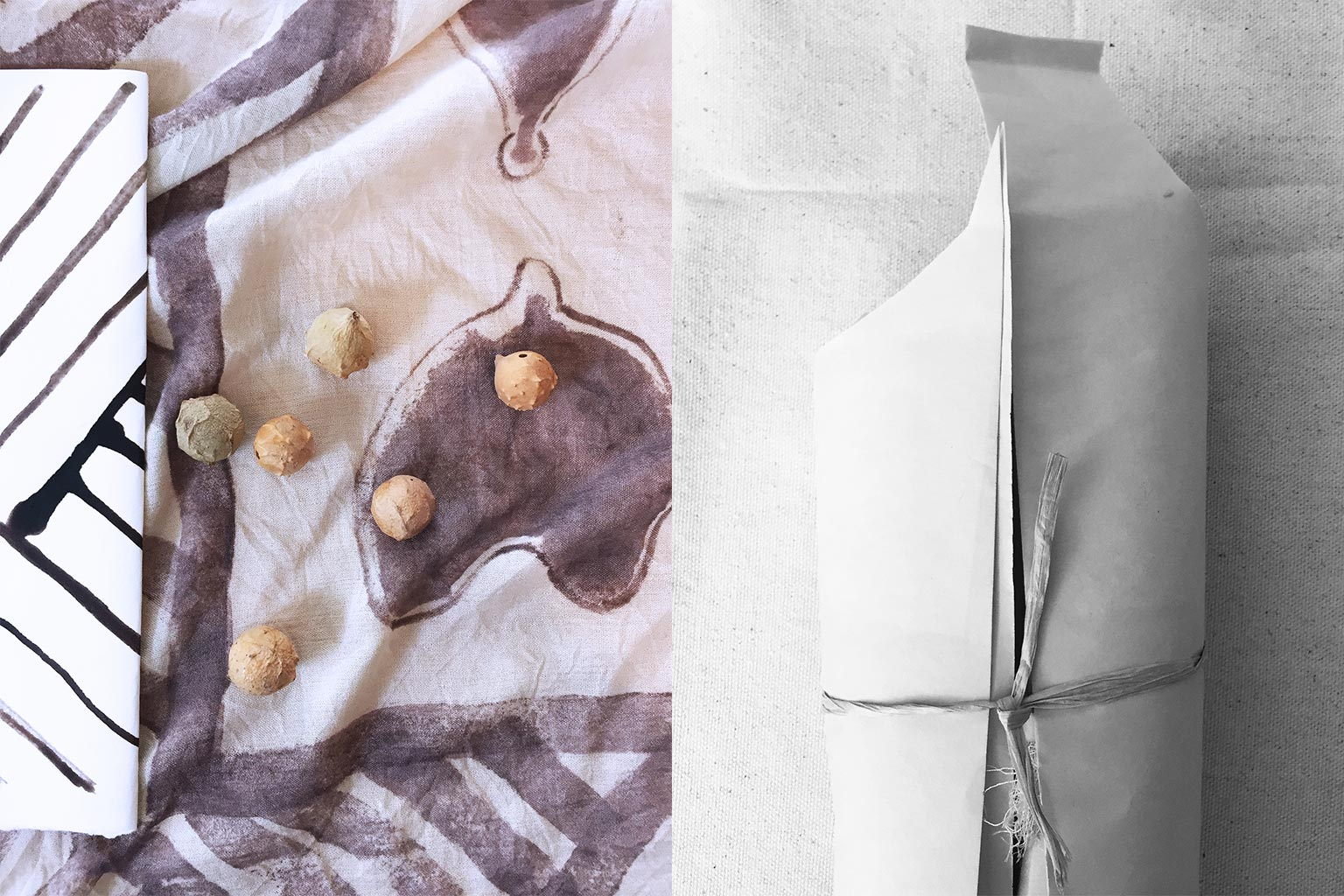 Marilet Pretorius all natural dye on silk process components.