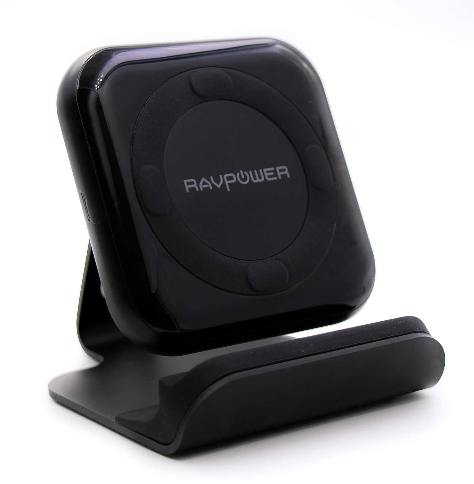 RAVPower QC3.0 10W Fast Wireless Charging Pad with Stand - Black