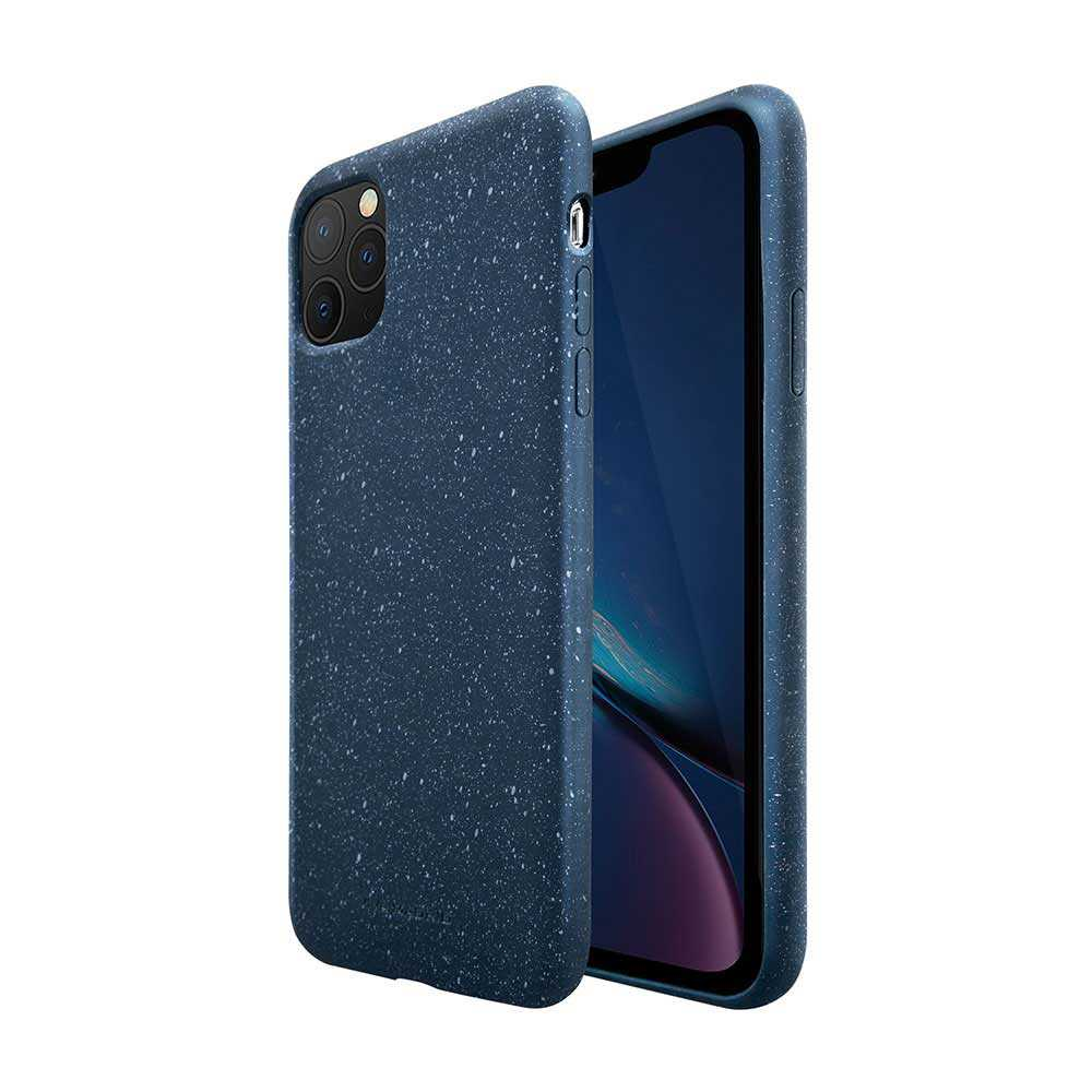 Viva Madrid Grano case + Liquid Silicon Micro-fiber on the inner case - 360° full protection - Smooth &comfortable grip For iPhone (2019) - Blue