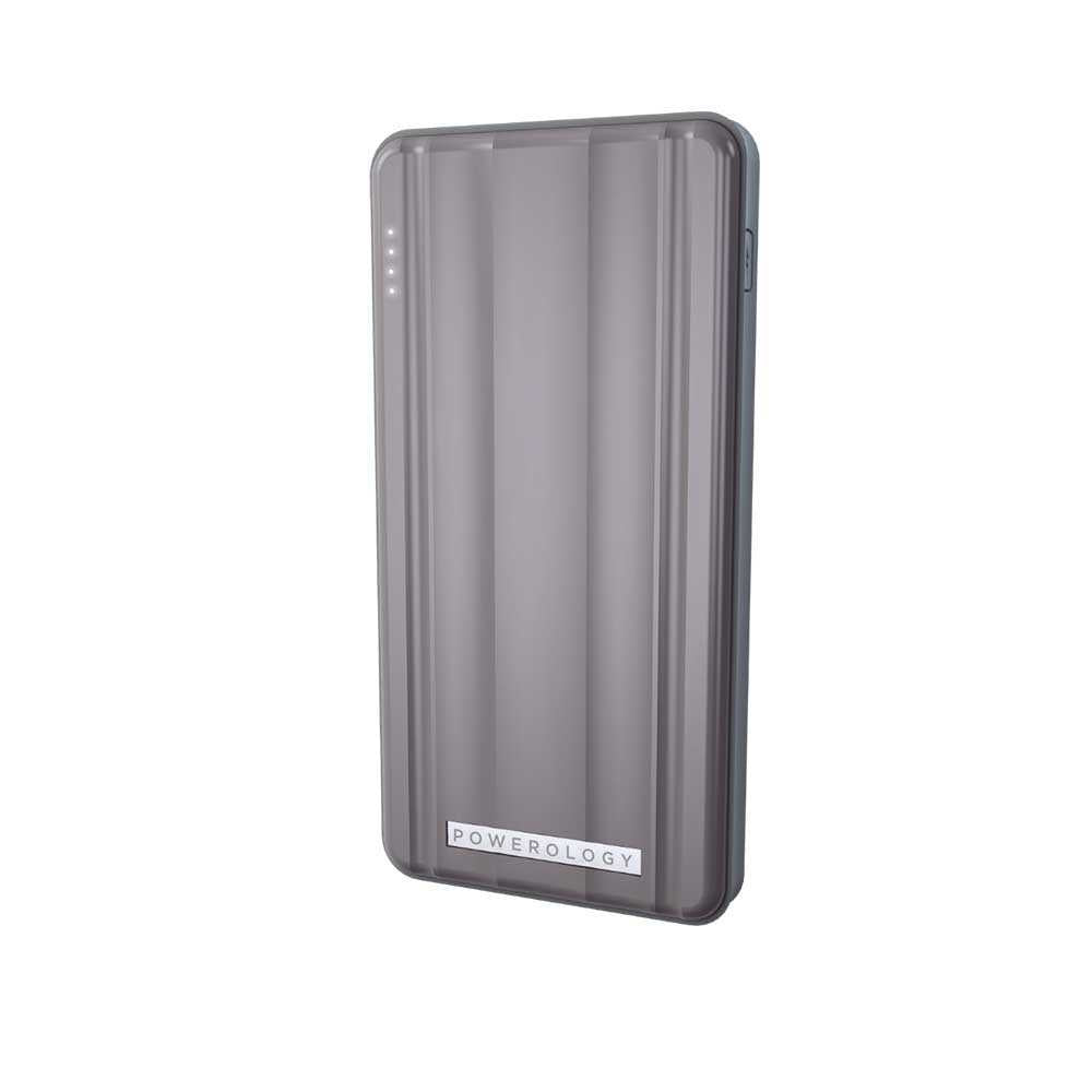 Powerology Slim PD Power Bank 10000mAh 18W - Gray