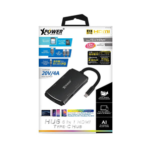 XPower 6 in 1 HDMI Typc-C Hubs