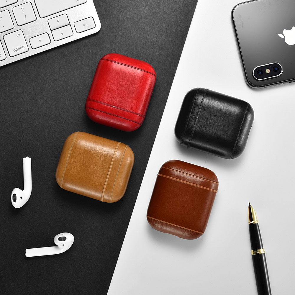 AirPod LEATHER CASE WITH HOLDER