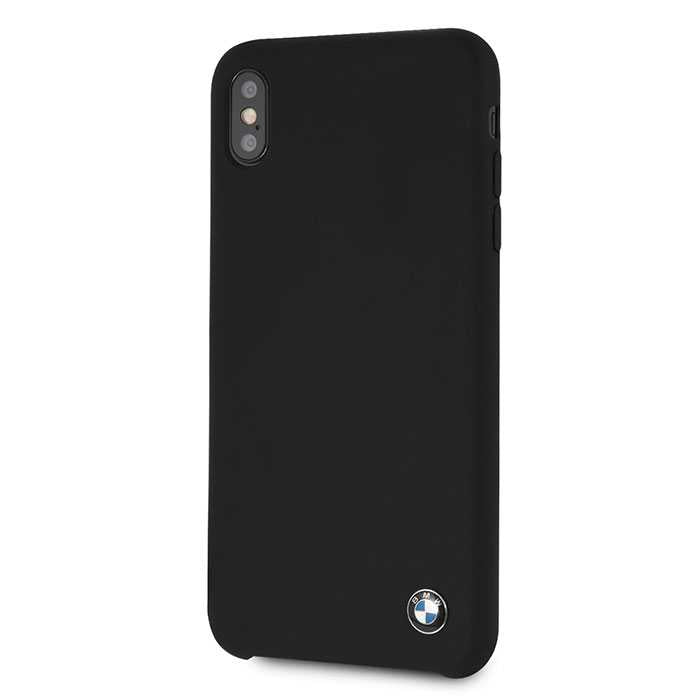 BMW Real Microfiber Silicone Case for iPhone Xs Max