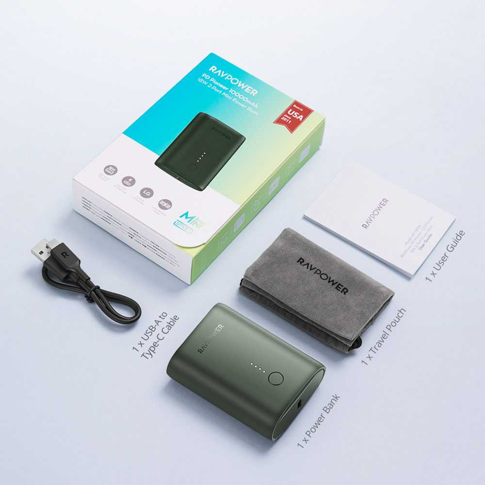 RAVpower PD Pioneer 18w 2-Port Mini Power Bank