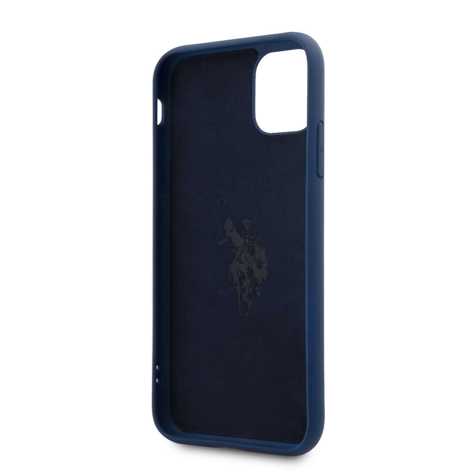 U.S.Polo Assn.Silicone Effect Case Vertical Logo for iPhone (2019) - Blue