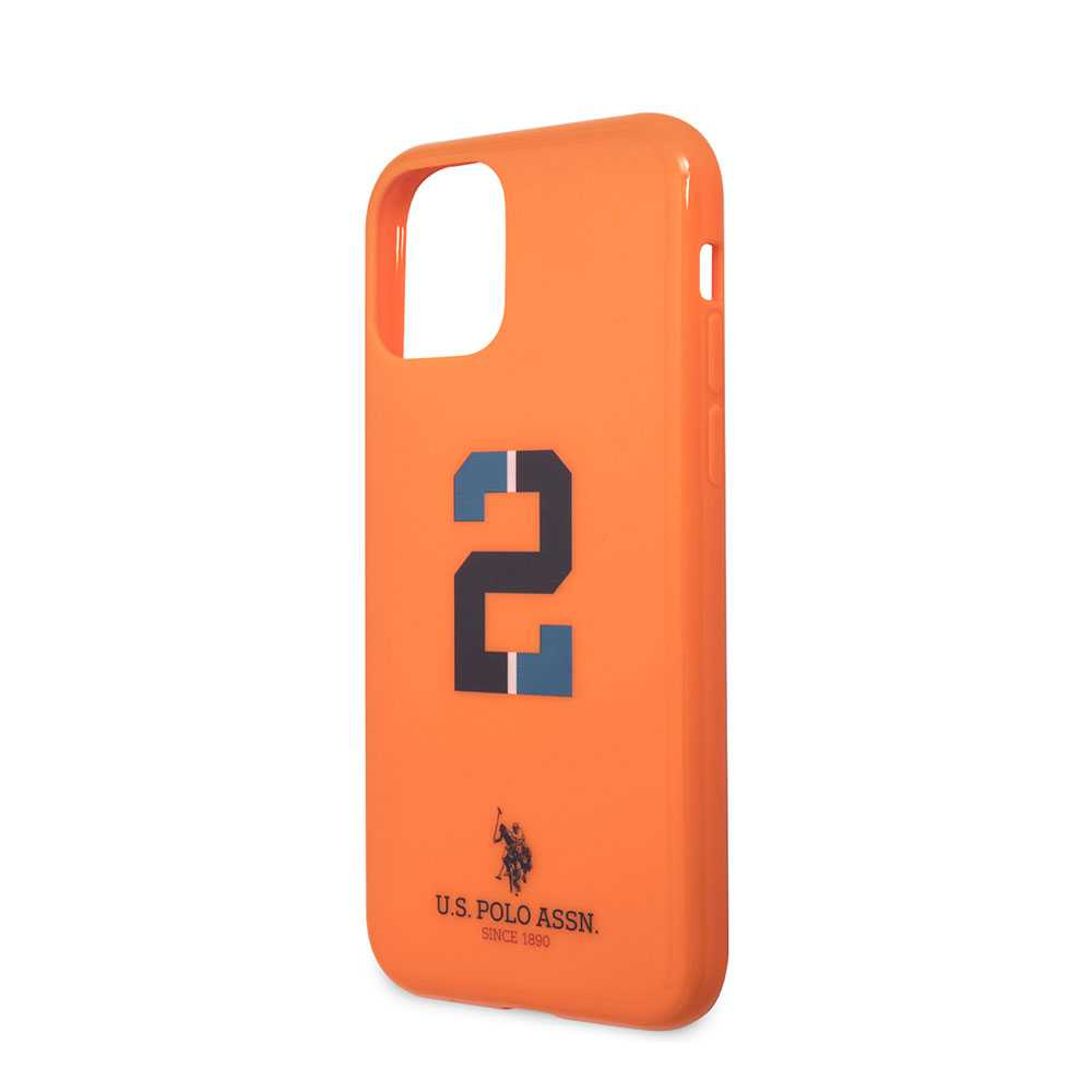 U.S.Polo Assn.PC/TPU Case No.2 Bicolor with Logo Print for iPhone 11 Pro - Orange