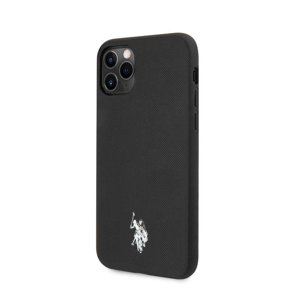 U.S.Polo Assn.Polo Type PU Case with Embossed Logo for iPhone (2019) - Black