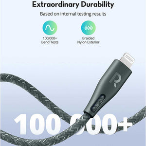 RAVPower Nylon Braided Type-C to Lightning Cable 1.2m