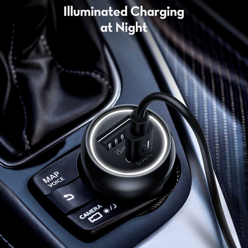 RAVPower 2-Pack PD Pioneer USB Car Charger Combo 30W - Black
