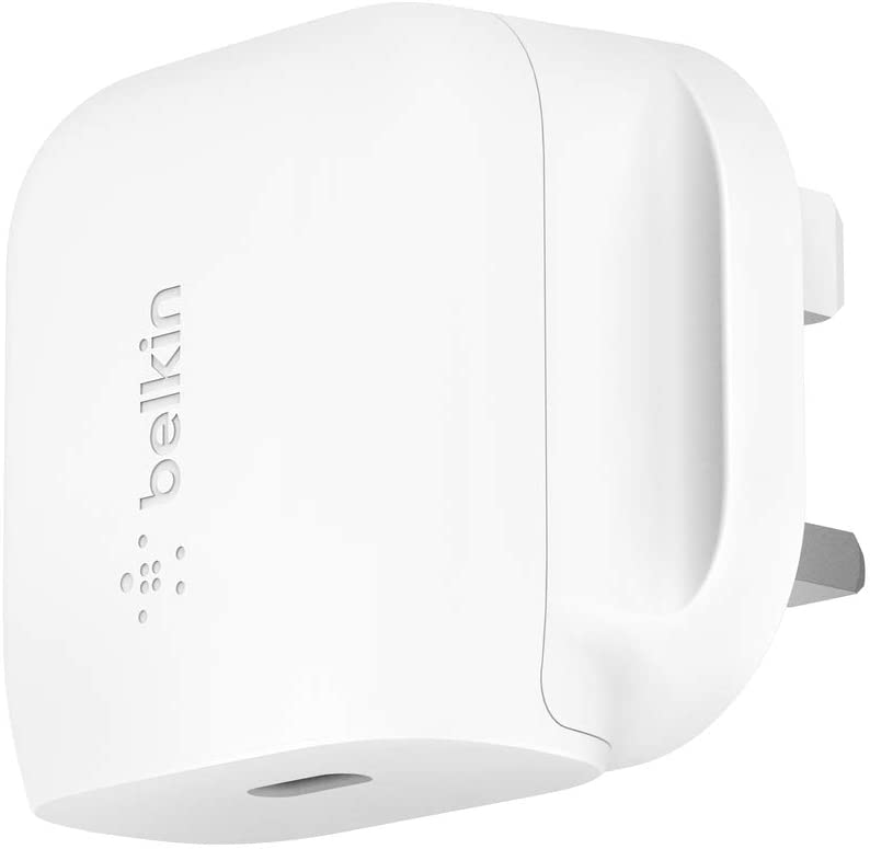 BELKIN - Wall Charger - 20W AC Charger - UK Plug - White