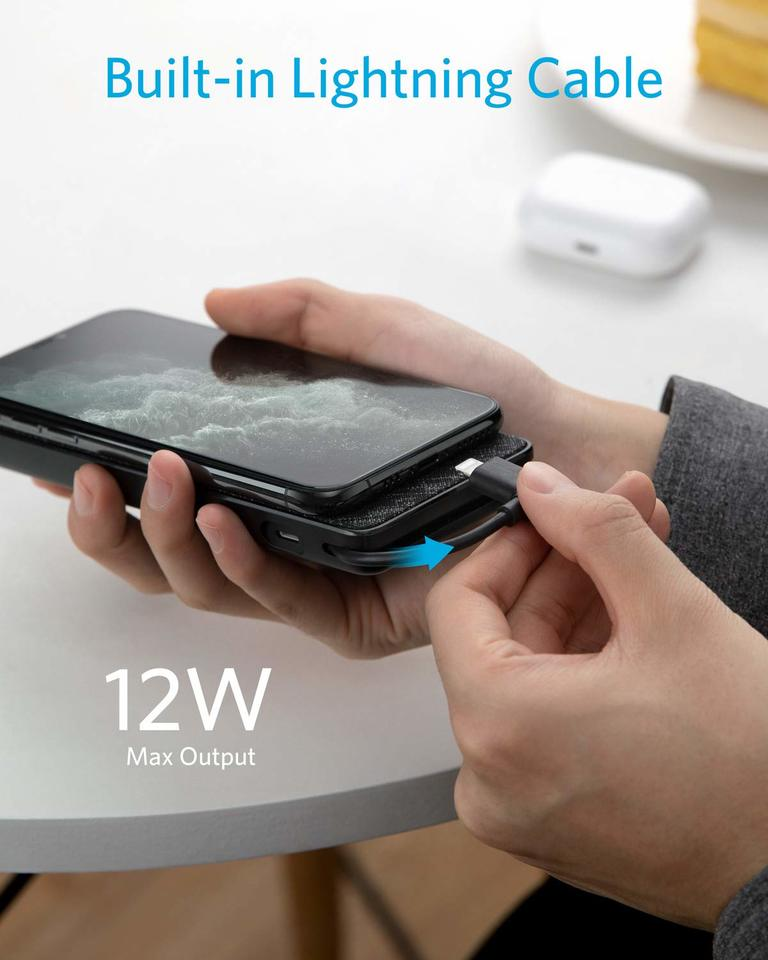 Anker PowerCore+ 10000 with built-in Lightning Connector  -  Black Iteration 1