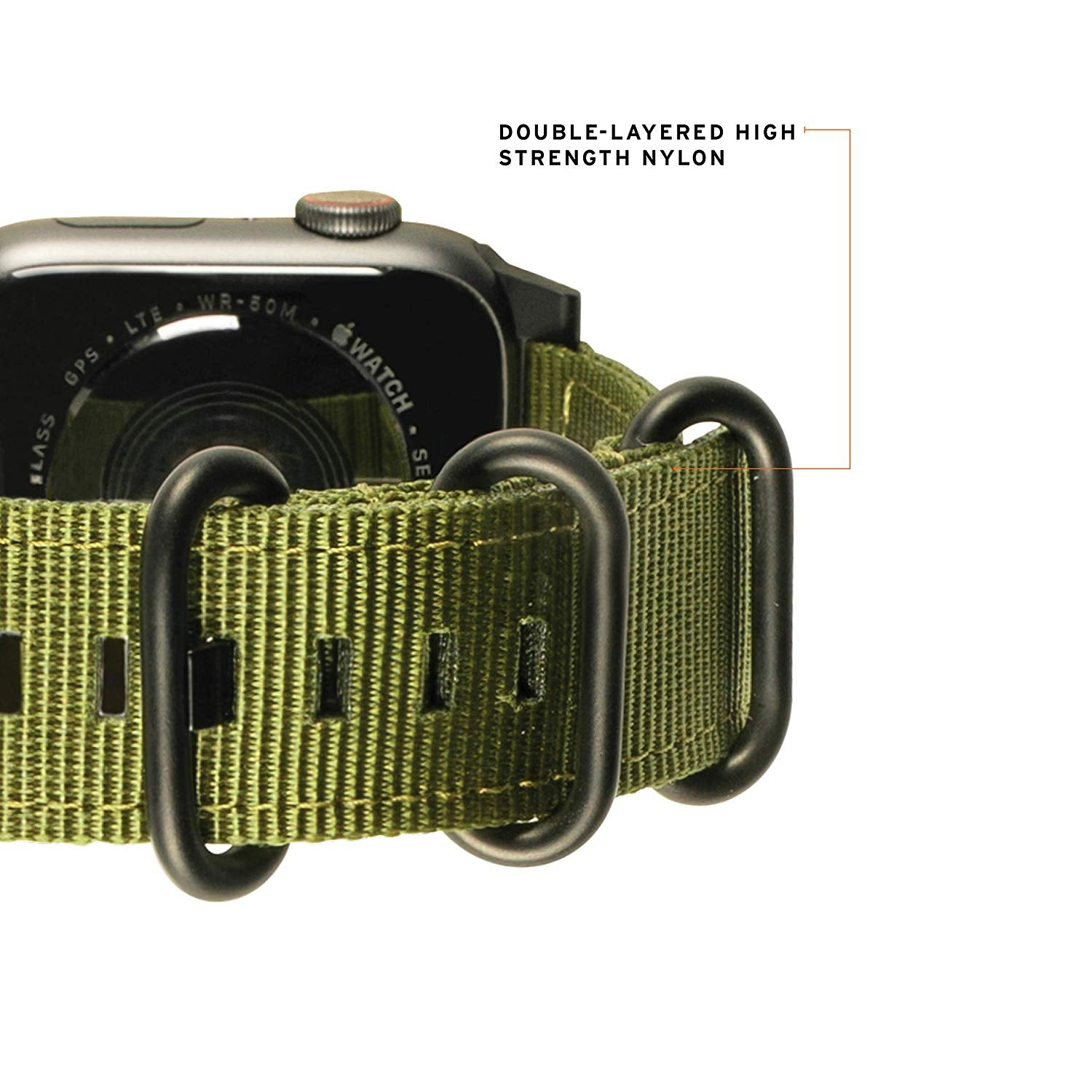 UAG Compatible Apple Watch Band 44mm 42mm, Series 4/3/2/1, NATO Olive Drab by URBAN ARMOR GEAR
