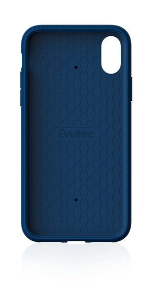Evutec AERGO - Ballistic Nylon Blue with AFIX Car Mount for iPhone XR