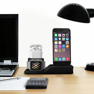 AHAstyle 3 in 1 Silicone Charging Dock - Black