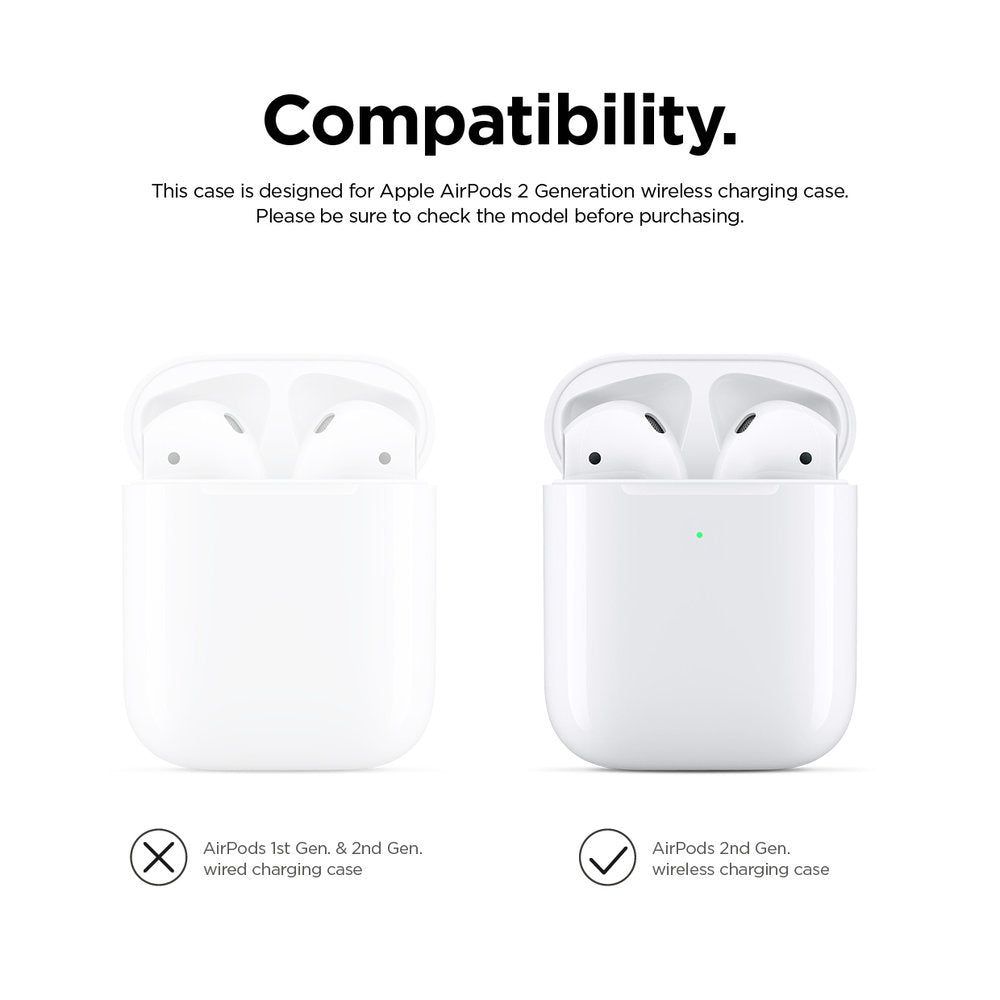 Elago 2nd Generation Airpods Silicone Case - Peach