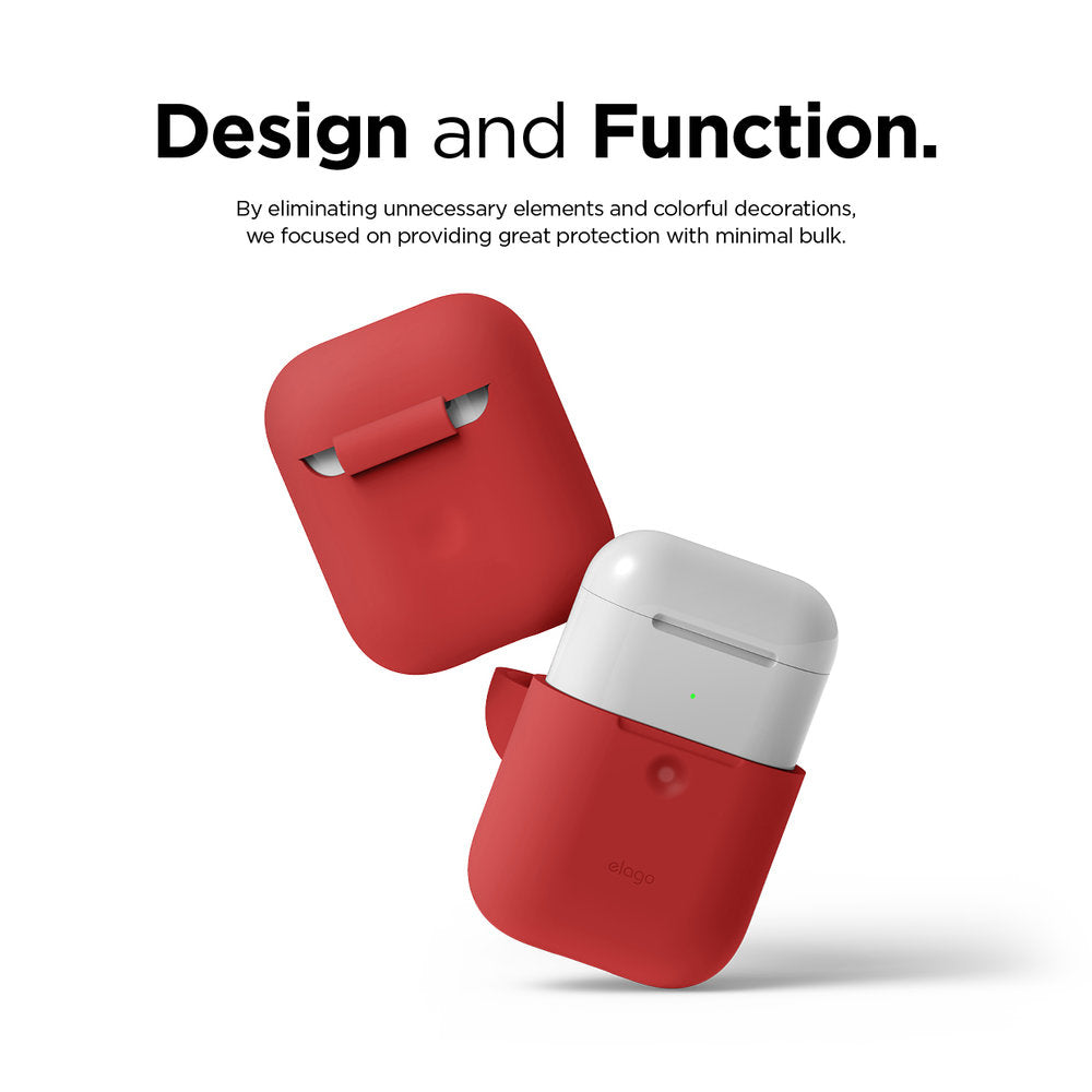Elago 2nd Generation Airpods Silicone Hang Case - Red